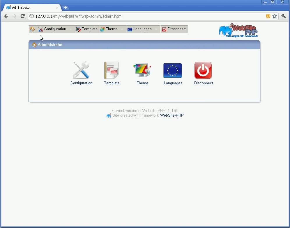 Vidéo Configure WebSite-PHP